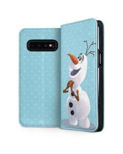 Olaf Polka Dots Galaxy S10 Plus Folio Case