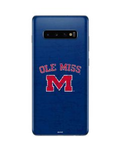 Ole Miss Distressed Galaxy S10 Plus Skin