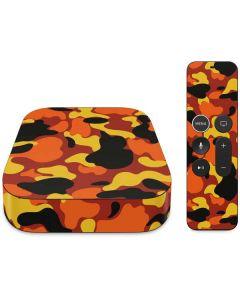 Orange Camo Apple TV Skin