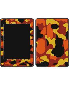 Orange Camo Amazon Kindle Skin