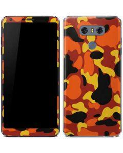Orange Camo LG G6 Skin