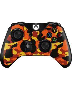 Orange Camo Xbox One Controller Skin
