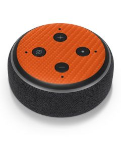 Orange Carbon Fiber Amazon Echo Dot Skin