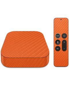 Orange Carbon Fiber Apple TV Skin