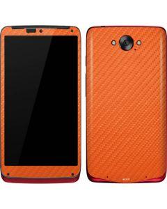 Orange Carbon Fiber Motorola Droid Skin