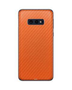 Orange Carbon Fiber Galaxy S10e Skin
