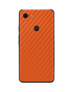 Orange Carbon Fiber Google Pixel 3 XL Skin