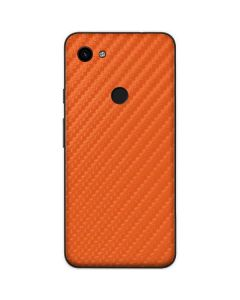 Orange Carbon Fiber Google Pixel 3a Skin