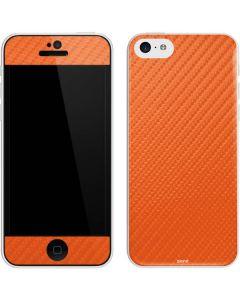 Orange Carbon Fiber iPhone 5c Skin
