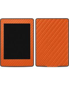 Orange Carbon Fiber Amazon Kindle Skin