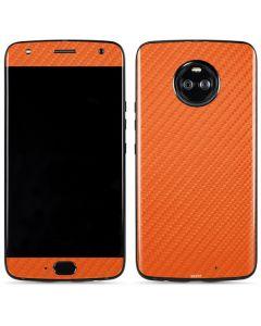 Orange Carbon Fiber Moto X4 Skin