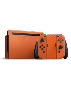 Orange Carbon Fiber Nintendo Switch Bundle Skin