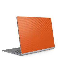 Orange Carbon Fiber Surface Book 2 15in Skin