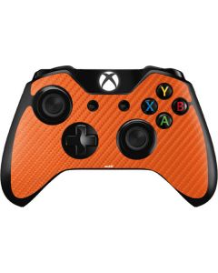 Orange Carbon Fiber Xbox One Controller Skin