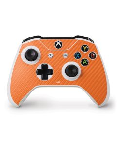 Orange Carbon Fiber Xbox One S Controller Skin