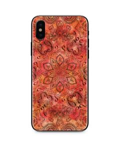 Orange Zen iPhone X Skin