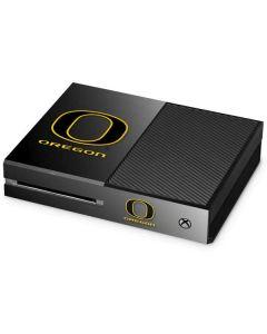 Oregon Ducks Black Gradient Xbox One Console Skin