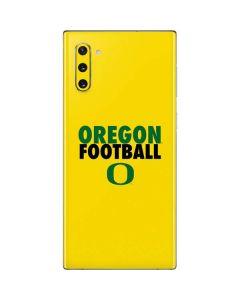 Oregon Ducks Football Galaxy Note 10 Skin