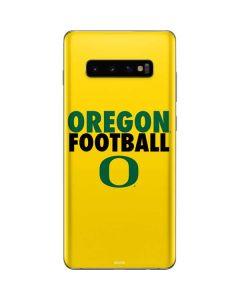 Oregon Ducks Football Galaxy S10 Plus Skin