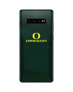 Oregon Ducks Logo and Wings Galaxy S10 Plus Skin