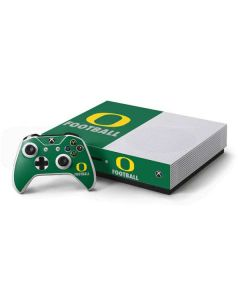 Oregon Football Green Xbox One S Console and Controller Bundle Skin