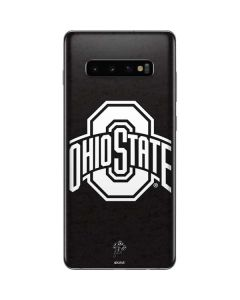 OSU Ohio State Black Galaxy S10 Plus Skin