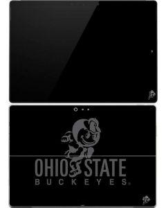OSU Ohio State Buckeyes Black Surface Pro (2017) Skin
