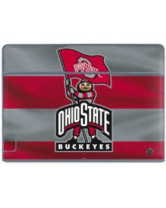 OSU Ohio State Buckeyes Flag Galaxy Book Keyboard Folio 10.6in Skin