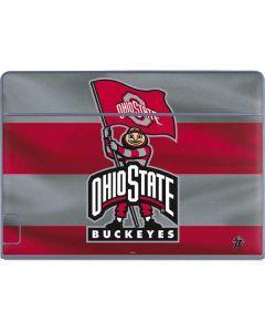 OSU Ohio State Buckeyes Flag Galaxy Book Keyboard Folio 12in Skin