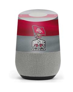 OSU Ohio State Buckeyes Flag Google Home Skin