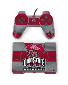 OSU Ohio State Buckeyes Flag PlayStation Classic Bundle Skin