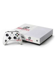 OSU Ohio State Buckeyes Light Grey Xbox One S Console and Controller Bundle Skin