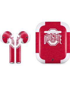 OSU Ohio State Buckeyes Red Logo Apple AirPods 2 Skin