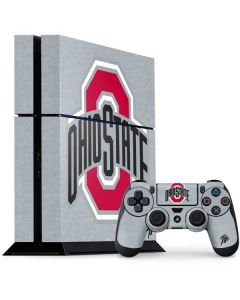 OSU Ohio State Logo PS4 Console and Controller Bundle Skin