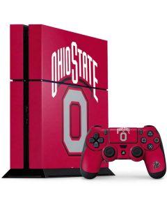 OSU Ohio State O PS4 Console and Controller Bundle Skin