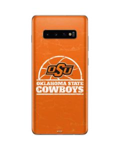 OSU Oklahoma State Cowboys Orange Galaxy S10 Plus Skin