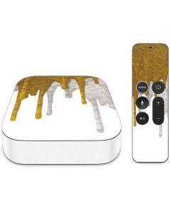 Paint Splatter Gold Apple TV Skin