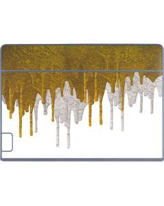 Paint Splatter Gold Galaxy Book Keyboard Folio 12in Skin