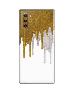 Paint Splatter Gold Galaxy Note 10 Skin