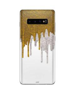 Paint Splatter Gold Galaxy S10 Plus Skin