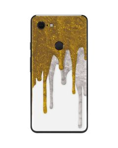 Paint Splatter Gold Google Pixel 3 XL Skin