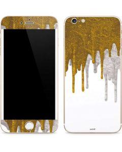 Paint Splatter Gold iPhone 6/6s Plus Skin
