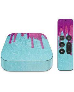 Paint Splatter Purple Apple TV Skin