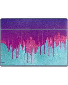 Paint Splatter Purple Galaxy Book Keyboard Folio 12in Skin