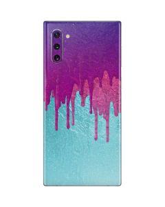 Paint Splatter Purple Galaxy Note 10 Skin