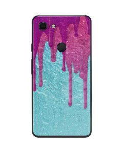 Paint Splatter Purple Google Pixel 3 XL Skin