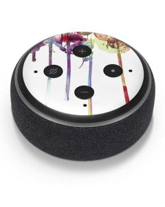 Painted Flowers Amazon Echo Dot Skin