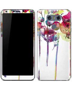 Painted Flowers LG G6 Skin