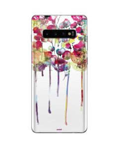 Painted Flowers Galaxy S10 Plus Skin