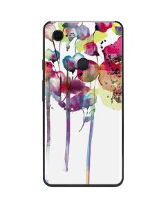 Painted Flowers Google Pixel 3 XL Skin
